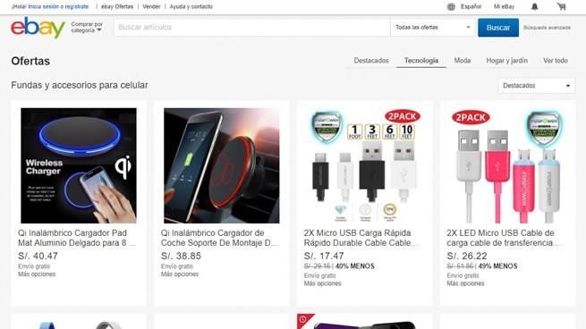 venta de productos tecnológicos en sitios de subastas